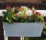 HORTICAN Maceta colgante de metal con bolsillo de pared para jardín para interiores o exteriores, balcón, patio, paquete de 2