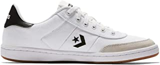 Barcelona PRO Canvas/Suede Low TOP Sneakers White/Black/White Mens 8