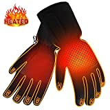 Winter Rechargeable Electric Warm Heated Gloves Men Women Battery Powered Heating Gloves,Waterproof Touchscreen