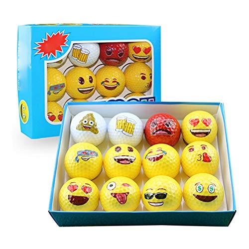 Kampre Kleurrijke sportgolfspel De nieuwigheid 12 stuks grappige bal cadeauset uit