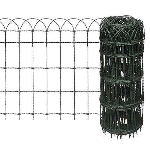 EBTOOLS- Gartenzaun, 10×0,65 m Eisen Zierzaun Ziergitter Beetumrandung Zaun Drahtzaun