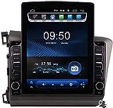 Pantalla Vertical de 9,7 Pulgadas Android 9.1 Coche Multimedia Player para Honda Civic LHD RHD 2012-2016, Soporte GPS Navegador Radio De Coche USB BT Mandos de Volante,TS150