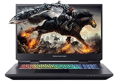"""Dream Machines RX2070S-17EU31 Gaming Laptop 17.3"""" FHD 144Hz, i7-10700K, RTX2070 Super 8GB, 16GB RAM, 1TB SSD, QWERTY (US Int.) Keyboard"""
