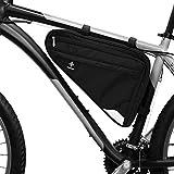 Borsa per bici da telaio o da sella I Spaziosa borsa triangolare da telaio bici uomo o don...