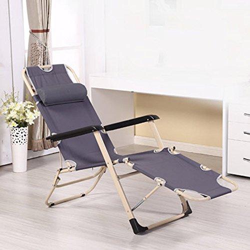 FEIFEI Fauteuils inclinables Chaise de sieste Économisez l'espace Chaise simple portative Pliant (Couleur : Gris)