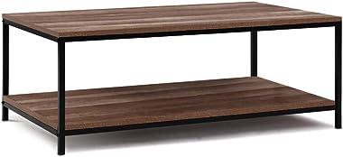 Artiss Coffee Table Industrial - Dark Wood