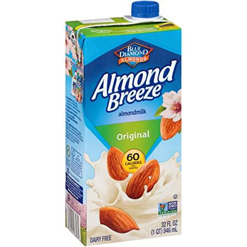 Blue Diamond Almonds Breeze Dairy Free Almondmilk, Original, 384 Fl Oz (Pack of 12)