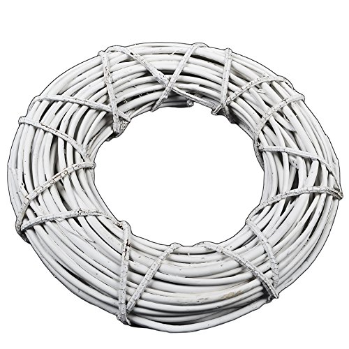 Corona decorativa Rattan 35 cm Colore bianco Colore decorativo