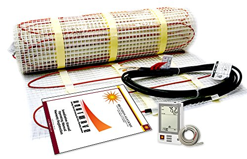 30 Sqft Electric Floor Heating 120 Volt System Includes 7-Day/4 Event Programmable GFCI Thermostat