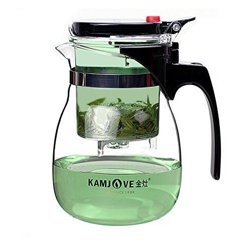 Kamjove Glass Gong Fu Tea Maker Press Art Cup Teapot with Infuser