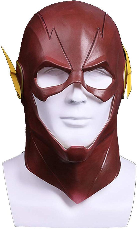 SDKHIN Flash Maske Kopfbedeckung Helm Halloween Cos Maske Kopfbedeckung Helm Requisiten Cosplay Masquerade Party Helm,RedOneSize