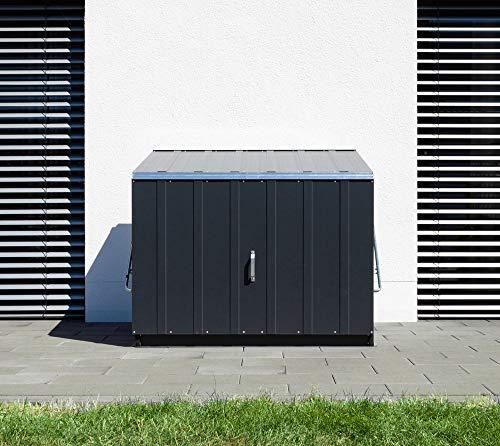 Trimetals Gerätebox, Aufbewahrungsbox, Multifunktionsbox, Fahrradbox Stowaway Anthrazit 138x89x113 cm (LxBxH); Multibox aus verzinktem Stahl - 3
