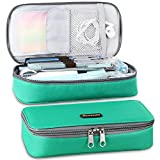 Homecube Pencil Case Big Capacity Pen Case Pouch Desk Organizer with Zipper Bag Stationery Storage Gel Pens Pencisl Highlighters Marker Eraser Sticky Note Scissors for School & Office Supplies - Green