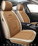 YRRC Car Seat Covers Set Completo con Cuero Impermeable del Grado Profesional, Airbag Compatible Cojín de vehículos universales Automotive Cubierta Ajuste para la mayoría,A