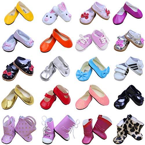 ZITA ELEMENT 5 Paare Puppen Schuhe für 43cm-46cm Babypuppen American 18 Zoll Girl Doll und Stehpuppen Puppenbekleidung Puppenzubehör
