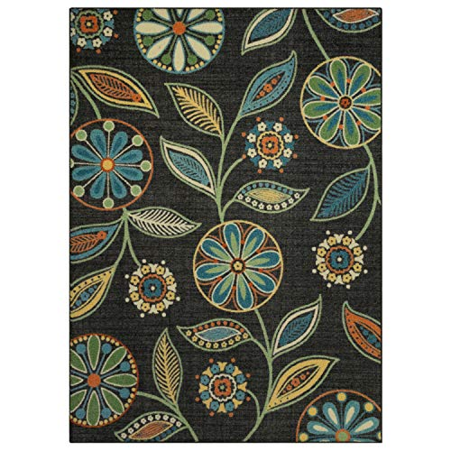 Maples Rugs Area Rugs - Reggie Artwork Collection 7 x 10 Non Slip Large Rug [Made in USA] for Living Room, Bedroom, and Dining Room, 7' x 10'