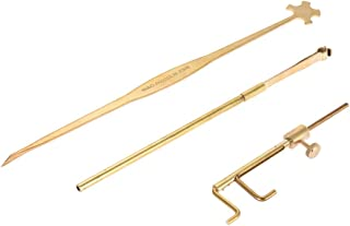 ammoon Violin Luthier Tools Kit Set Sound Post Gauge Measurer & Retriever Clip & Setter Brass