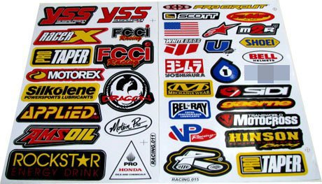 Racing Gear Decal Sticker Mx Motocross Dirt Bike ATV 2 Sheets #R203 by Rockstar