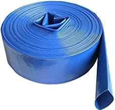SELLERS360 3inch 100' Feet Long Heavy Duty PVC Lay Flat Discharge Backwash Hose for Water Transfer Applications, 4 Bar Agricultural Grade Construction