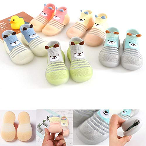 Infant toddler baby shoes girls&boys cute cartoon, baby girl boy non slip socks cartoon baby slippers shoes boots, baby shoes and socks, suitable for spring and summer 【13.5cm】 【Light-blue】