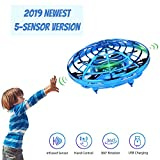 Hand Operated Mini Drone for Kids, Lumsburry Flying Ball Toy UFO Helicopter Infrared
