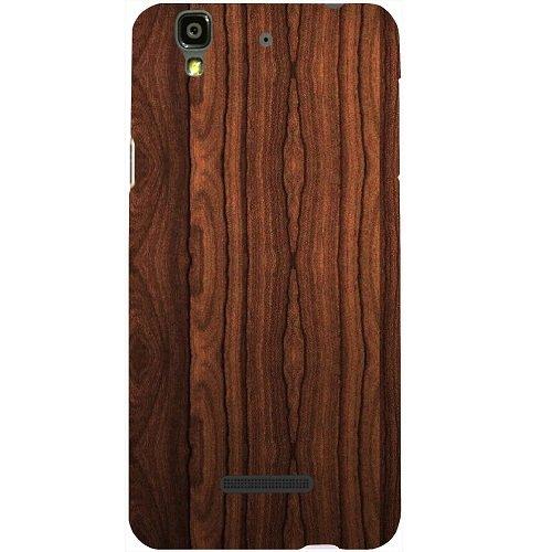 Casotec Wooden Texture Design Hard Back Case Cover for Micromax Yu Yureka AQ5510 / AO5510