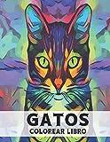 Gatos: Libro Colorear 50 Diseños de Gatos de una Cara Libro Colorear Gato para Aliviar el Estrés Increíbles Gatos para Colorear para aliviar el estrés ... de gatos para adultos, hombres y mujeres