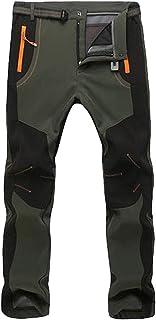 DaiHan Otoño e Invierno Exterior Deportes Hombres Soft Shell Pantalones Impermeable A Prueba de Viento Mantener