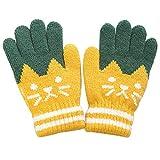 JPYH 1 Paar Touchscreen-Handschuhe, Kinderfingerhandschuhe, Warme Herbst- und Winterhandschuhe, Gestrickte Wollhandschuhe für Kleinkinder, Skihandschuhe, Sporthandschuhe und Fitness im Freien,Gelb