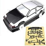 N\A Parte de Coches RC For AE86 Modelo de RC Coche Distancia Entre Ejes 256 mm w/Accesorio 1/10 PVC Shell RC Car Cuerpo Pintado RC Car Parts Accessories