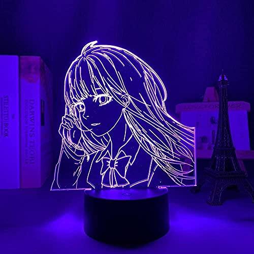 JYDNBGLS Lâmpada de anime Kimi Ni Todoke LED noturna para decoração de quarto de crianças, luminária noturna, presente de aniversário, dispositivo de quarto, mesa, Sawako Kuronuma iluminação de controle remoto