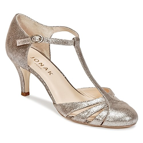 JONAK Laora Pumps Damen Silbern - 38 - Pumps Shoes