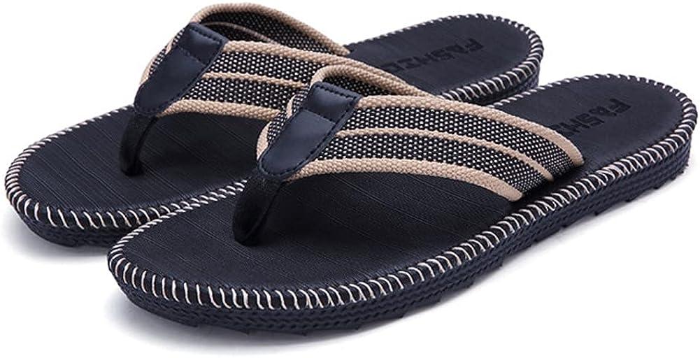 FolHaoth Mens Flip Flops Comfy Thong Sandals for Men Soft Non Slip Indoor Outdoor Slide Sandal Shoes
