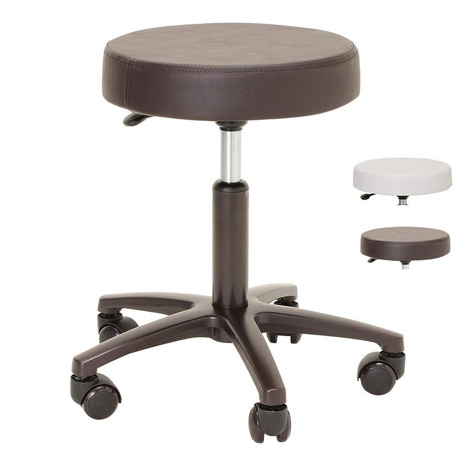 従事する性能束ねるエステスツールSDX 高さ41-53cm ブラウン [ エステスツール ネイルスツール 丸椅子 ネイルチェア キャスター付き 昇降式 オフィスチェア スツール イス 椅子 チェア ]