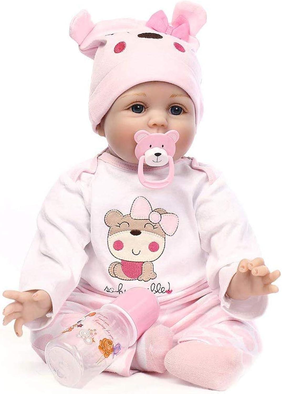 Lsrryd Babypuppen 22  Lebensecht Alles Vinyl Lächelnd Baby Neugeborenes Puppe, Rosa (größe   55cm) B07KYN3S8K Moderne und stilvolle Mode  | Hat einen langen Ruf