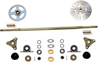 WPHMOTO Rear Axle Shaft Assembly Kit with Sprocket Brake Disc Pillow Block for Go Kart Quad Trike Drift Bikes