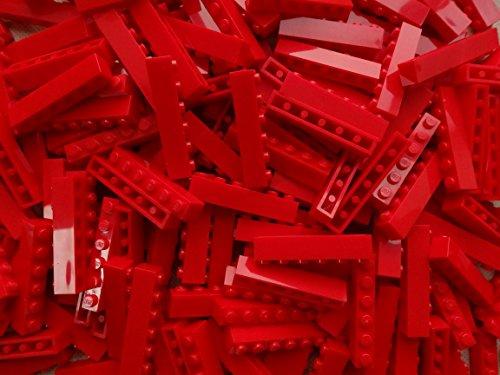25 piedras LEGO 3009, color rojo.