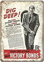 勝利の債券国家戦争財務委員会ヴィンテージティンサイン装飾ヴィンテージ壁金属プラークカフェバー映画ギフト結婚式誕生日警告のためのレトロな鉄の絵