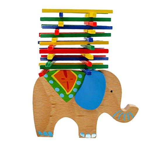 Hellery Juego de Ejercicio de Equilibrio de Elefante de Madera Juego de Fiesta de Navidad para Padres E Hijos