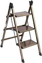 IG Stepladerders Las Punda Tabilla Tabilla Ultra Fleen Aleación de Aluminio Placas para el Hogar Escaleras de Interior Sop...