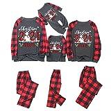 Alueeu Pijamas Navidad Familia Conjunto Navideños Ropa de Dormir Ropa de Casa Familia Sleepsuit Calientes Homewear Cálido Otoño Invierno Sudadera Chándal Suéter de Navideño