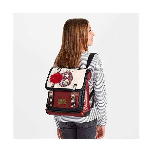 51Lz0XAlYsL. SS600  - Mochila pequeña Gorjuss con bandolera Little Red Riding Hood