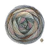 Lana Grossa Gomitolo Molto - 200g Kammgarn Bobble Wolle mit Farbverlauf und Herz Rotbraun-Grau-Lachs-Anthrazit-Pink-Petrol