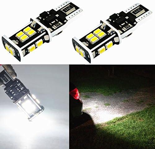 Alla Lighting Super Bright T15 912 921 LED Bulbs Back Up Light 6000K Xenon White 3020 SMD 12V product image