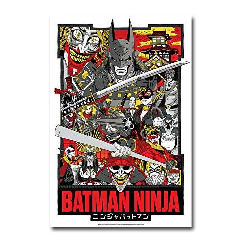 yangchunsanyue Affiche Batman Ninja DC Film d'animation Affiche Murale Art décor Autocollant 50x70cm No Frame U-1799
