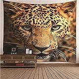 KnBoB Tapiz para Pared Leopardo 150x150 CM Tejido Poliéster...