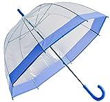 Umbrella Clear Bubble Dome, Rain, Galleria Umbrellas for Kids, Men and Woman (Lavender Trim, One Size)