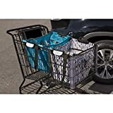 Clever Shopper – Reusable Shopping Cart Grocery Bag – Modern Links / 40lb capacity, Shoulder Straps, Heavy Duty Handle / Coupon Pouch / Eco-Friendly