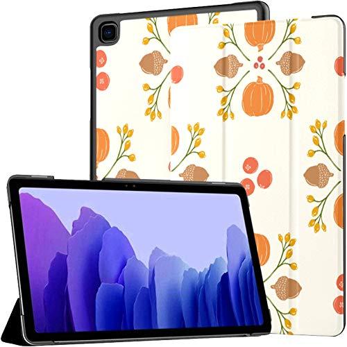 Funda para Tableta Samsung A7 Pumpkin Acorn Cranberry Damask Funda para Samsung Galaxy Tab A7 10,4 Pulgadas Funda Protectora de liberación 2020 Funda Samsung Galaxy A7 Funda para Tableta Funda de Cue