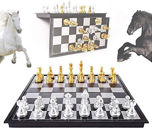 NIUZIMU Conjunto de ajedrez tablero de juego borradores juego de ajedrez Pequeño